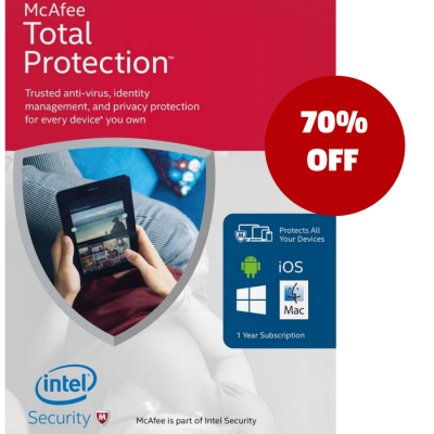 mcafee total security 70 off